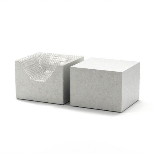 chocofur blender 3D model Lounge Concrete 06
