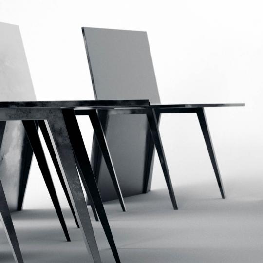chocofur blender 3D model Tables Steel 08