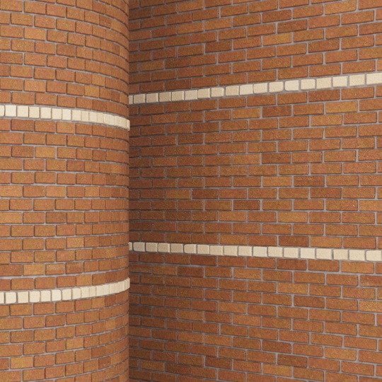 chocofur blender 3D model Brick Brick Pattern 14
