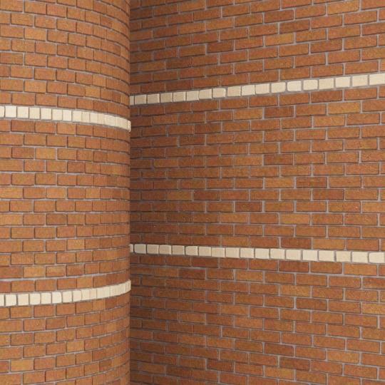 chocofur blender 3D model Brick Brick Pattern 14