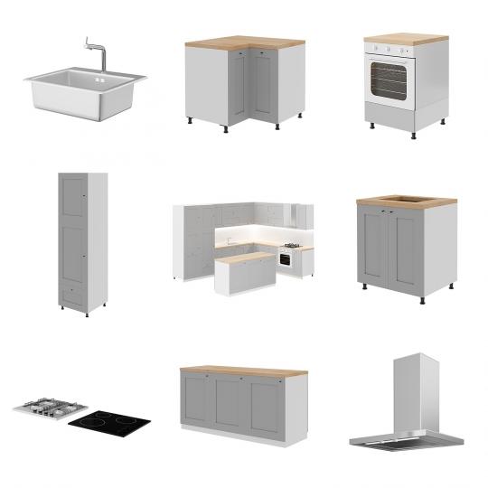 chocofur blender 3D model Kitchen Set 02 Kitchen Set 02