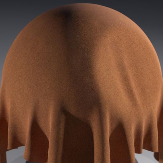 chocofur blender 3D model Leather Chocofur Leather Suede 01