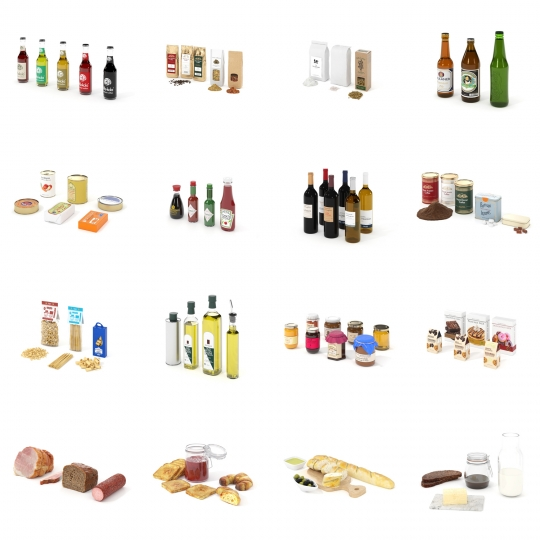 chocofur blender 3D model Food Food Details Bundle