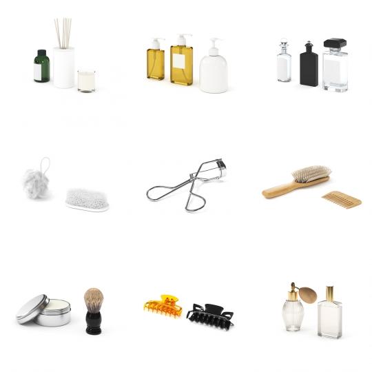 chocofur blender 3D model Beauty Beauty Details Bundle