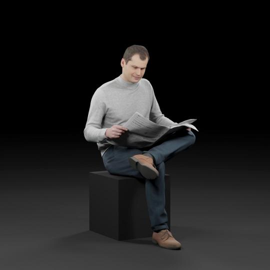 chocofur blender 3D model Casual Humano Casual 20