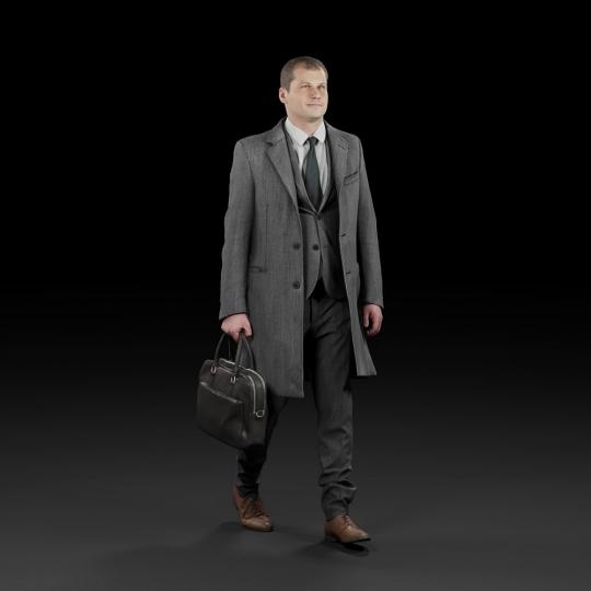 chocofur blender 3D model Elegant Humano Elegant 03