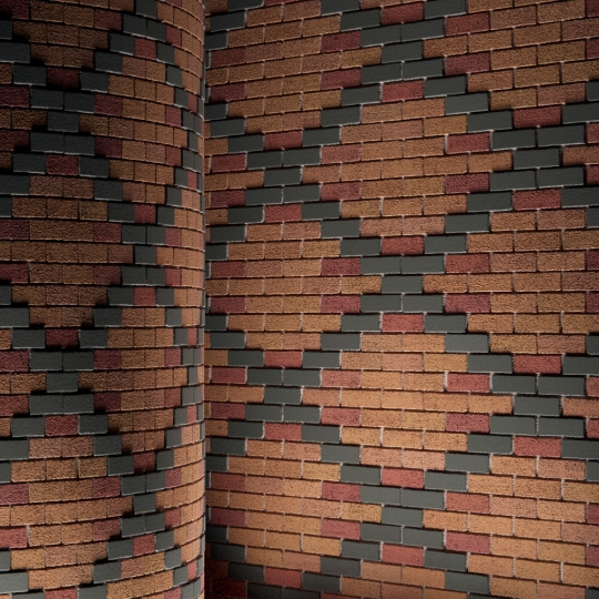 chocofur blender 3D model Brick Brick Pattern 03