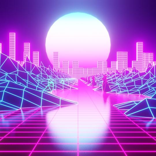 chocofur blender 3D model Tutorials Cyberpunk Retro Animation