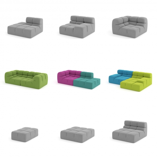chocofur blender 3D model Modular Sofa 03 Sofa Modular 03