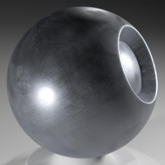 chocofur blender 3D model Metal Chocofur Metal Solid 01