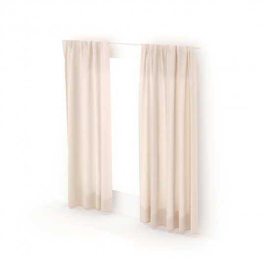 chocofur blender 3D model Curtains Curtain_01