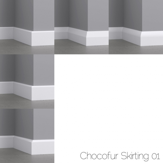 chocofur blender 3D model Skirting Skirting 01