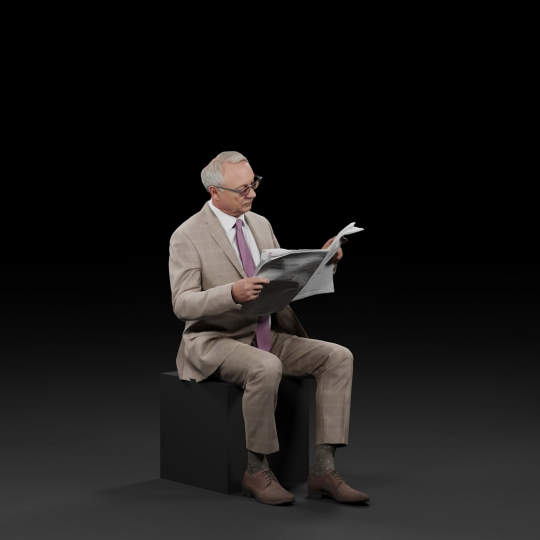 chocofur blender 3D model Elegant Humano Elegant 19