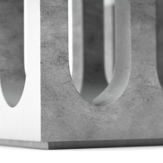 chocofur blender 3D model Tables Concrete 03