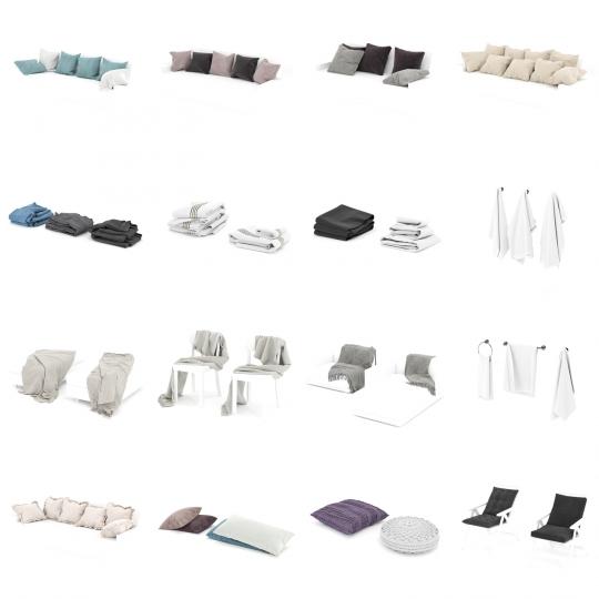 chocofur blender 3D model Textiles Textile Details Bundle