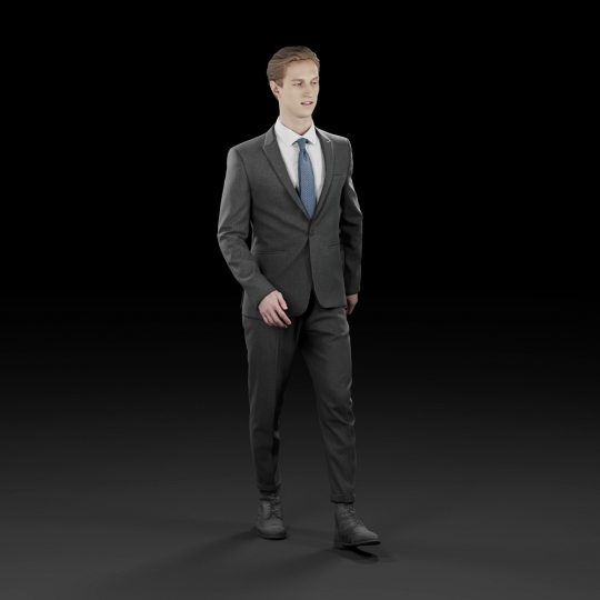 chocofur blender 3D model Elegant Humano Elegant 05