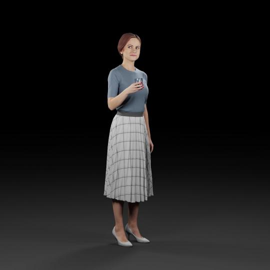 chocofur blender 3D model Diverse Humano Diverse 04