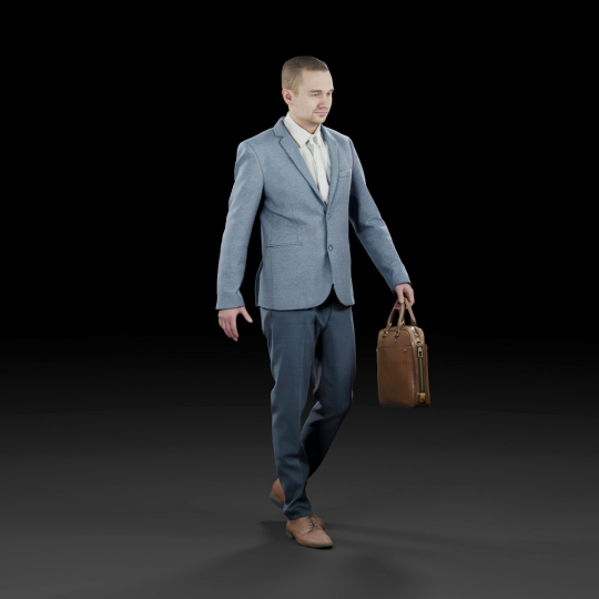 chocofur blender 3D model Business Humano Business 09