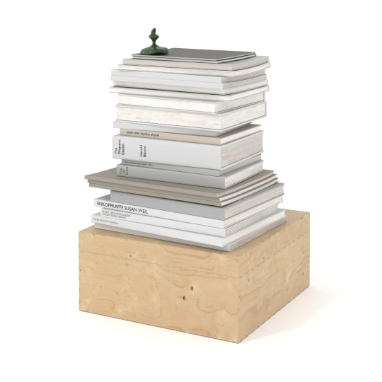 chocofur blender 3D model Books Books 06