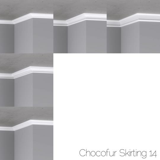 chocofur blender 3D model Skirting Skirting 14