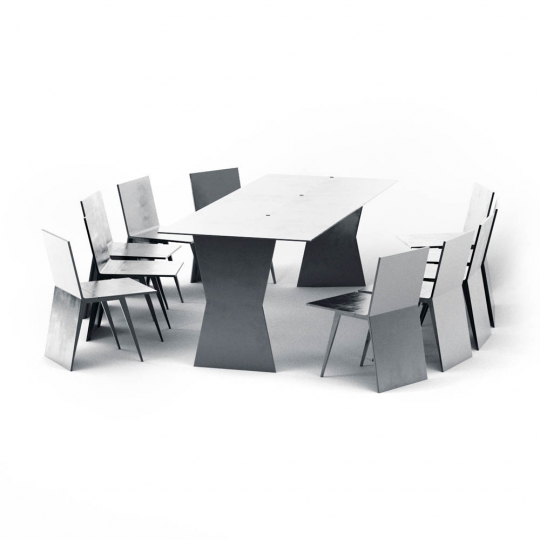 chocofur blender 3D model Tables Steel 08