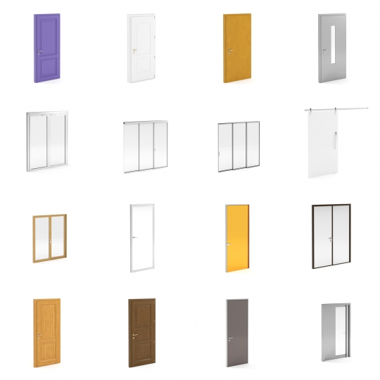 chocofur blender 3D model Doors Doors Details Bundle