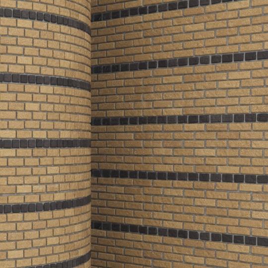 chocofur blender 3D model Brick Brick Pattern 13
