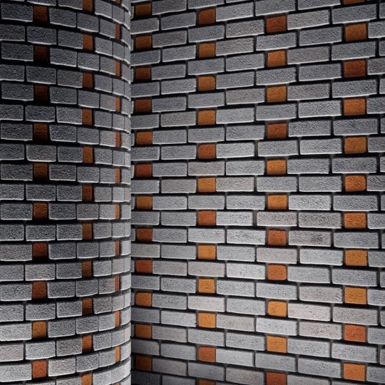 chocofur blender 3D model Brick Brick Pattern 09