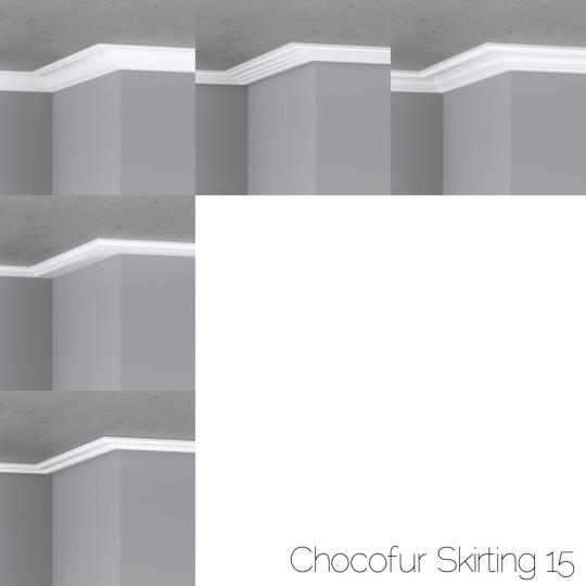 chocofur blender 3D model Skirting Skirting 15