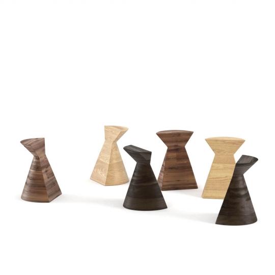 chocofur blender 3D model Stools Wood 06