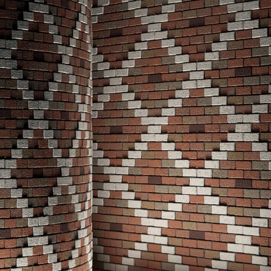 chocofur blender 3D model Brick Brick Pattern 01