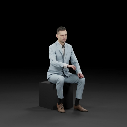 chocofur blender 3D model Business Humano Business 17