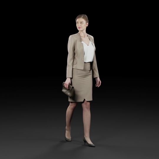 chocofur blender 3D model Elegant Humano Elegant 01