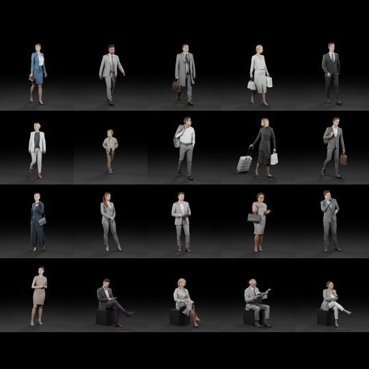 chocofur blender 3D model Vendors Humano Elegant Bundle