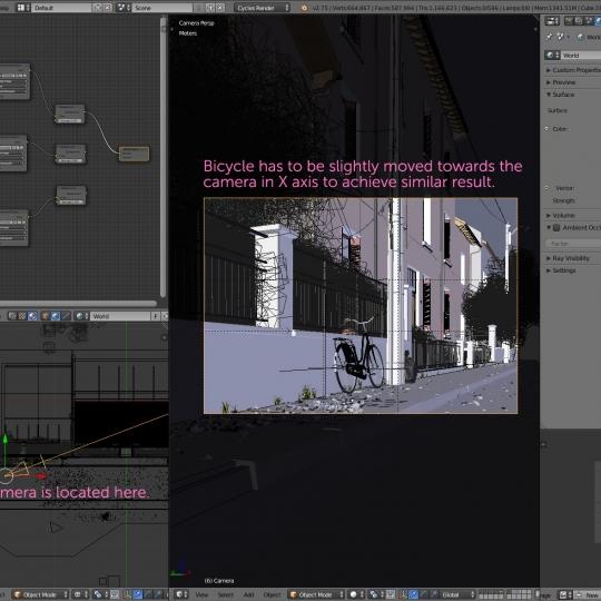 chocofur blender 3D model Exteriors Exterior Scene 01