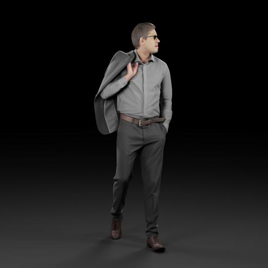 chocofur blender 3D model Elegant Humano Elegant 08