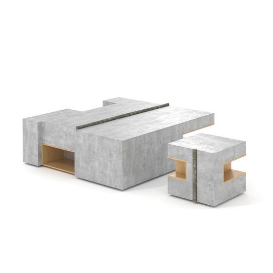 chocofur blender 3D model Tables Concrete 40