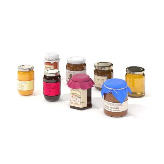 chocofur blender 3D model Food Food 08