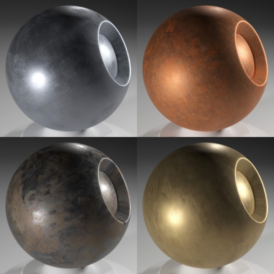 chocofur blender 3D model Metal Free Metal Shaders