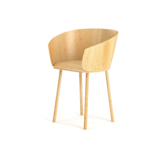 chocofur blender 3D model Chairs Wood 01