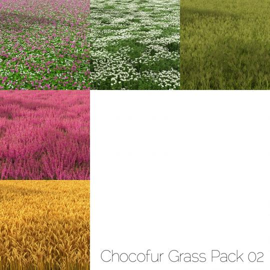 chocofur blender 3D model Environment Grass Pack 02