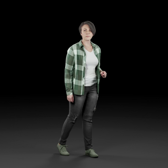 chocofur blender 3D model Casual Humano Casual 14