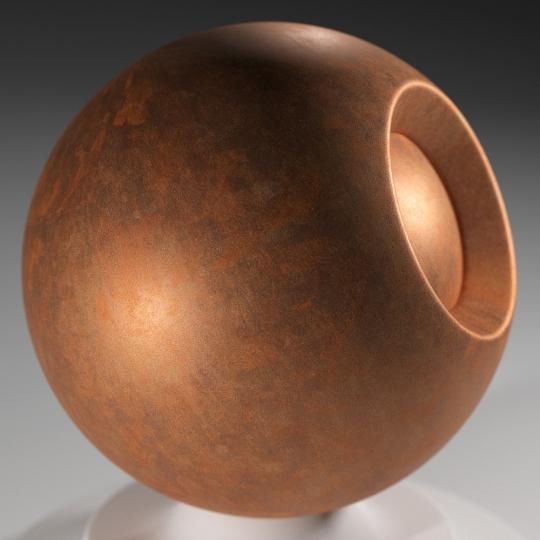 chocofur blender 3D model Metal Chocofur Metal Solid 03