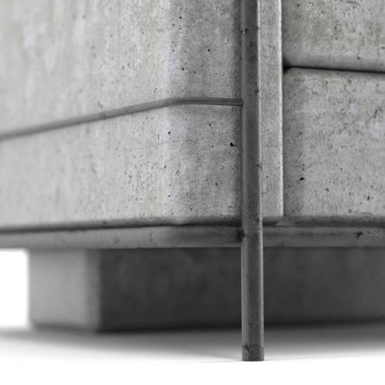 chocofur blender 3D model Lounge Concrete 08