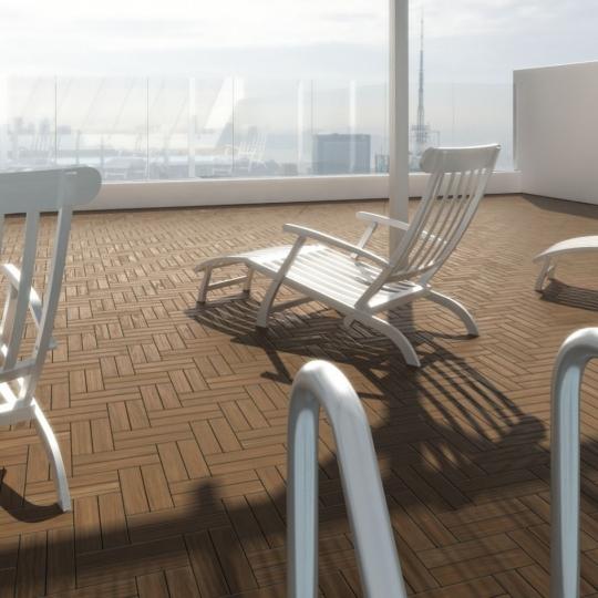 chocofur blender 3D model Wood Flooring Wood Flooring 44 Teak