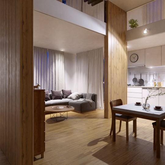 chocofur blender 3D model Interiors Interior Scene 07