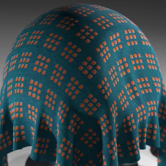 chocofur blender 3D model Fabric Chocofur Fabric Patterned 06