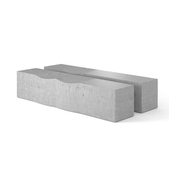 chocofur blender 3D model Benches Concrete 31