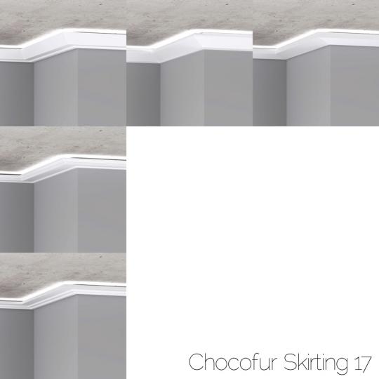 chocofur blender 3D model Skirting Skirting 17