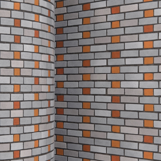 chocofur blender 3D model Brick Brick Pattern 09